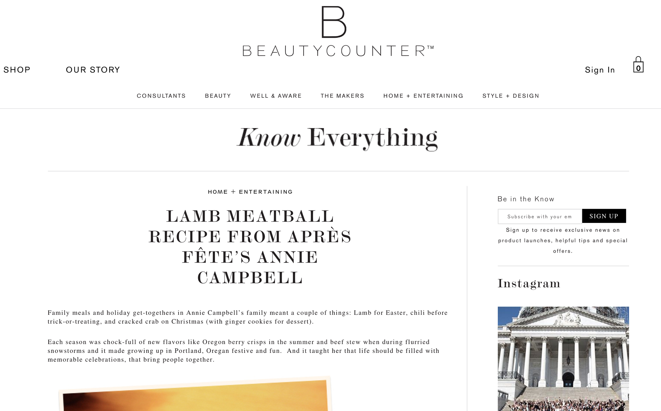 BEAUTYCOUNTER //  Home Entertaining featuring annie campbell