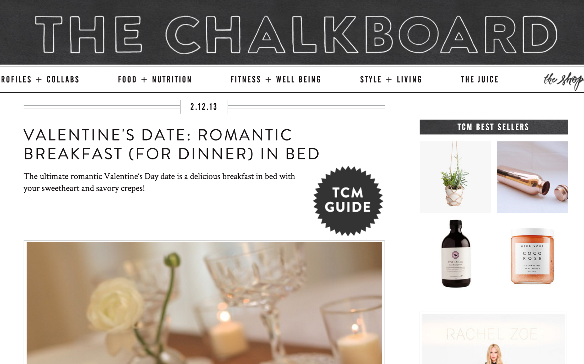 THE CHALKBOARD MAG // Breakfast in Bed featuring annie campbell