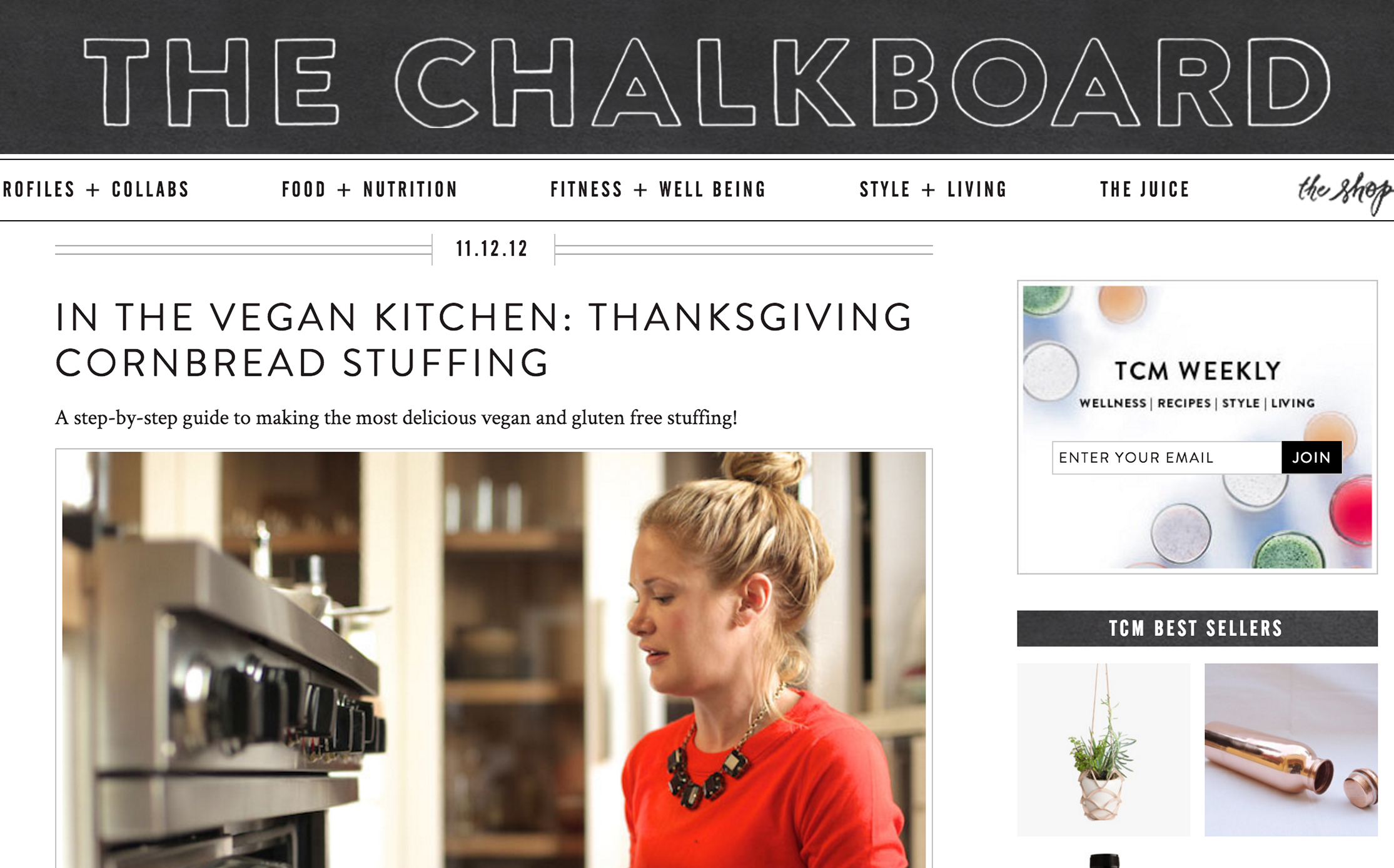 THE CHALKBOARD MAG //   A Vegan Thanksgiving featuring annie campbell