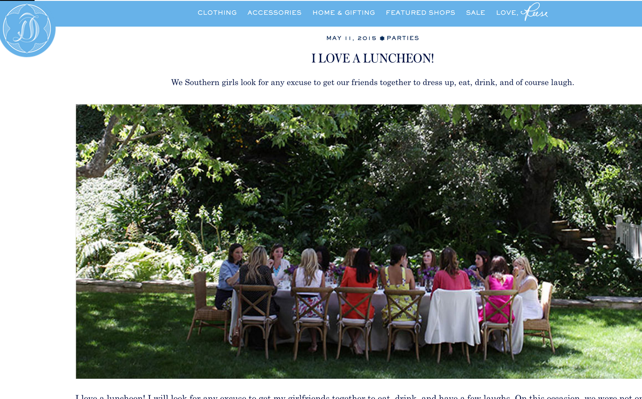 DRAPER JAMES BLOG // A Southern Luncheon featuring annie campbell