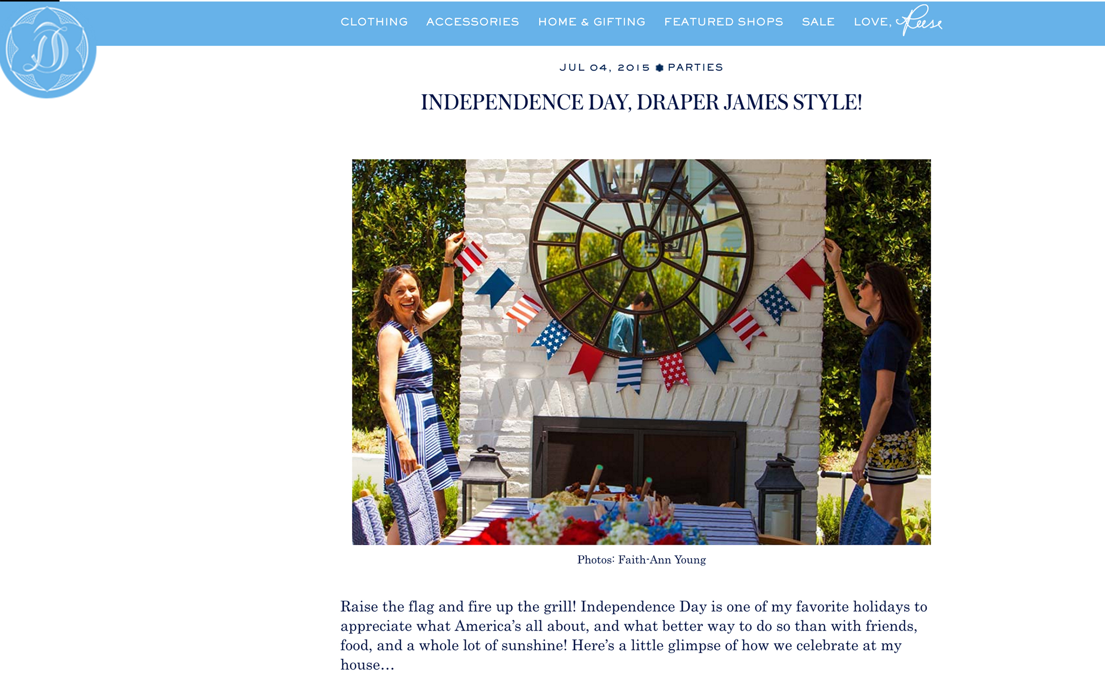 DRAPER JAMES BLOG // Independence Day featuring annie campbell