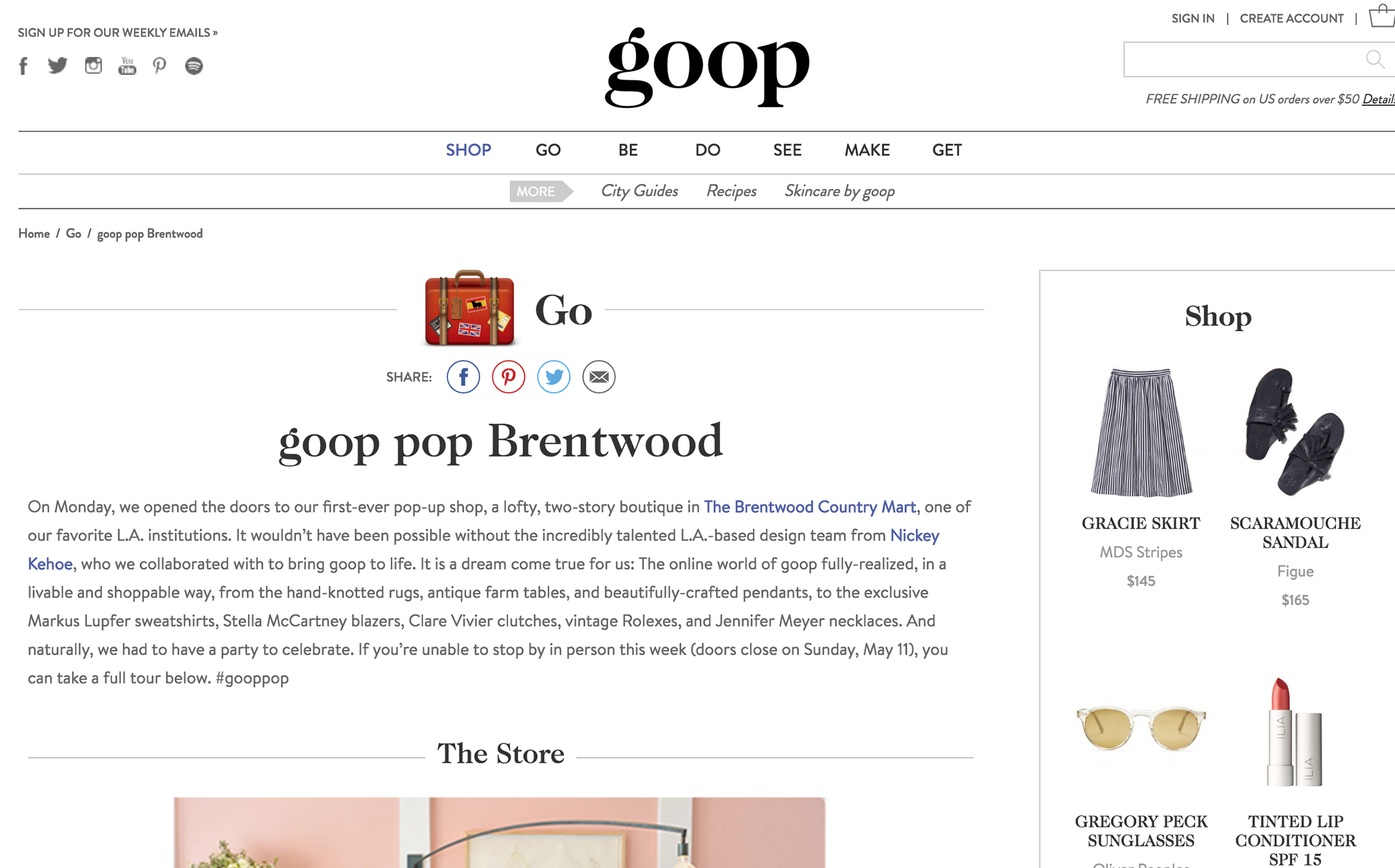 GOOP //  Goop Pop-Up Store Party featuring annie campbell