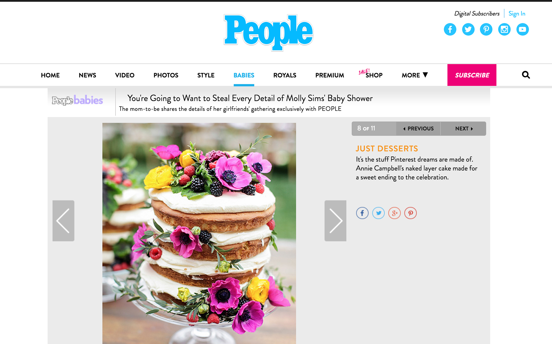 PEOPLE //  Molly Sims' Baby Shower • featuring annie campbell