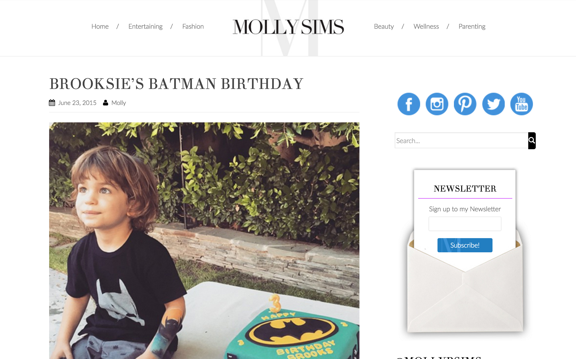 MOLLY SIMS //   Batman Birthday Party • featuring annie campbell
