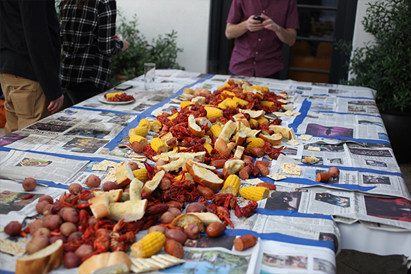 afternoon crawfish boil by annie campbell