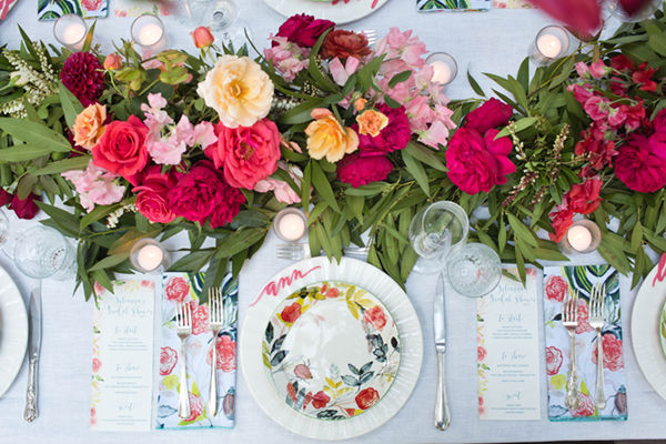 floral bridal shower by annie campbell