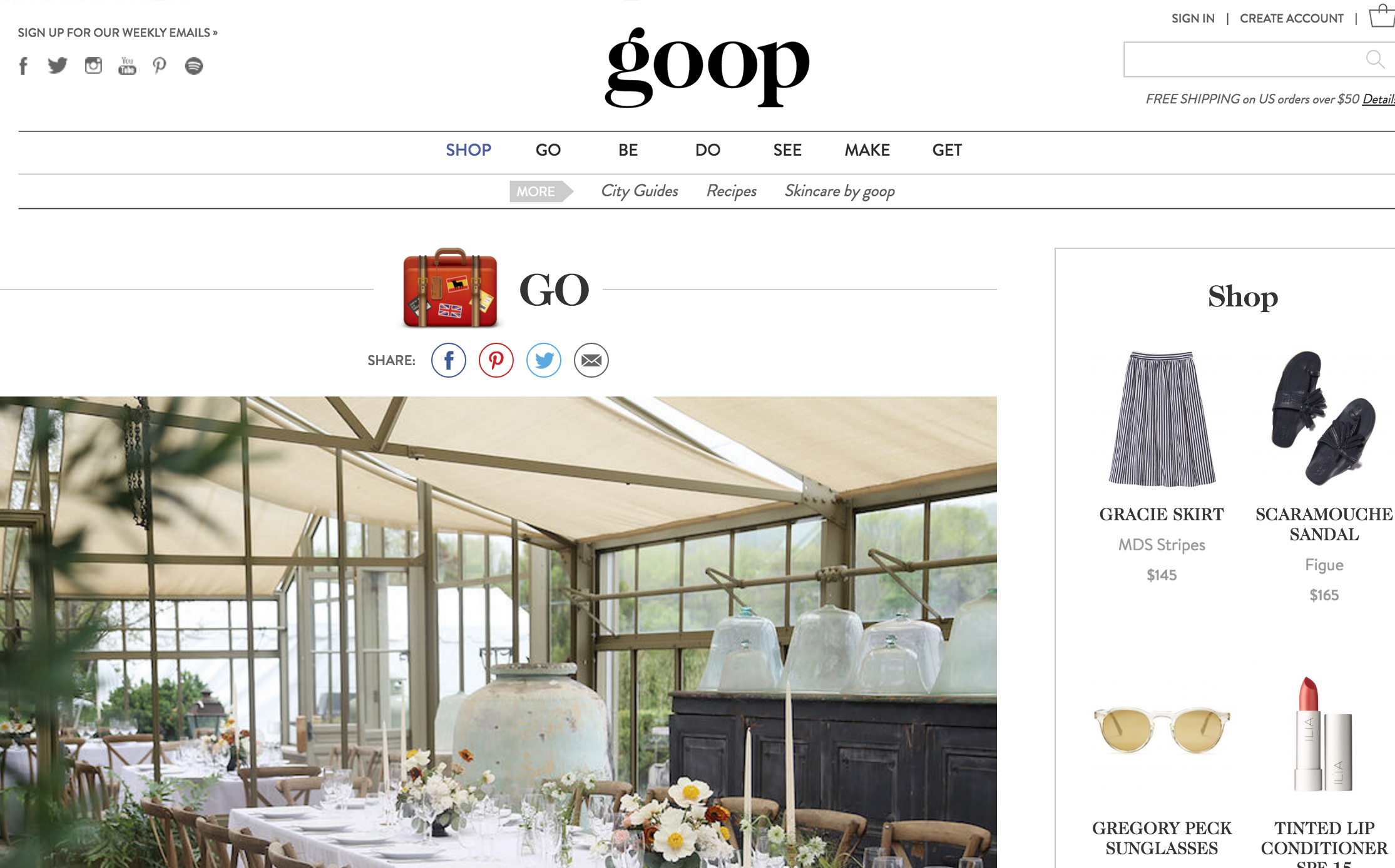 GOOP //  Party Planning Guide featuring annie campbell